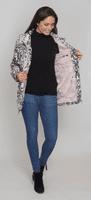 Womens Lightweight Hooded Silver Print Jacket db835